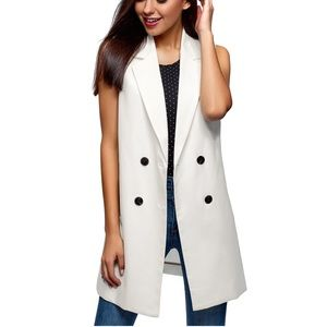Oodji collection long  double-breasted vest